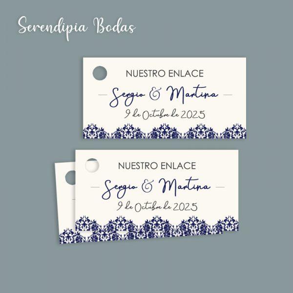 etiqueta detalles boda classic