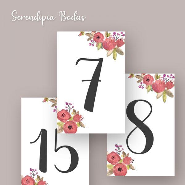 posicion mesa boda boho floral