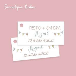 etiqueta detalles boda celebración