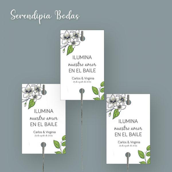 Kit de bengalas boda Campestre